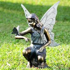 bronze garden statues. garden bronze sculptures fairy and butterfly grace statue not available outside of the us international statues