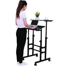 standing office table. Image Is Loading SDADI-Mobile-Stand-Up-Desk-Height-Adjustable-Home- Standing Office Table