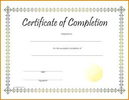 Certificates Of Completion Templates Course Completion Certificate Of Ojt Template Word Stockshares Co