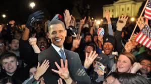 Image result for obama supporters chant cheer