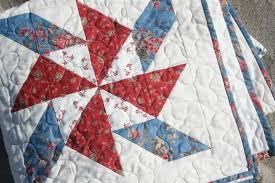 Red White and Blue Pinwheel Quilt - Hopeful Homemaker & I ... Adamdwight.com