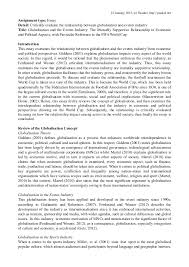 globalisation and sport event fifa assignment type essay detail critically evaluate the relationship between globalisation and events industry title