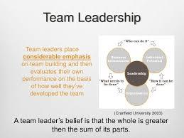 Qualities Of A Good Team Leader Team Leadership