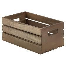 270x160x120mm dark rustic wooden crate