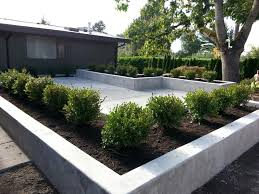 Modern Garden Decorating With Concrete Planters