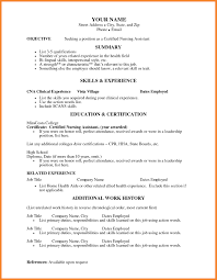 Best Solutions Of Certified Nursing Assistant Resume No Experience