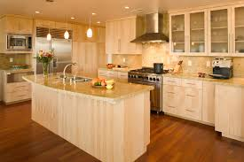 contemporary kitchens with wood cabinets. Interesting Kitchens Contemporary Kitchen Cabinets With Quartersawn Maple Wood Throughout Kitchens With C