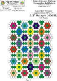 Use both hexagons and diamonds to paper piece this sweet design ... & aussie repro inch pattern - also lots of other PDF patterns. Hexagon  Patchwork, Hexagon Quilting ... Adamdwight.com