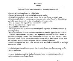 Cleaning Job Description For Resume Template Cleaning Job Description Template 19