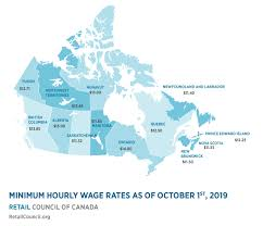 Minimum Wage Chart Ontario Minimum Wage By Province Retail Council Of Canada