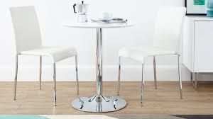 pedestal white gloss and chrome small table small round white gloss and chrome dining table