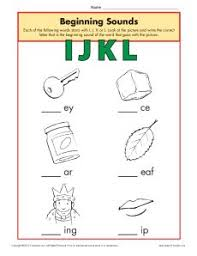 Download free, printable phonics worksheets and activities on a variety of topics such as click on the category or resource type below to find printable phonics worksheets and teaching activities. Beginning Sounds Worksheets Ijkl Phonics Worksheet