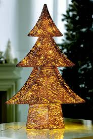 Gold Wire Christmas Tree Lights The Rose Gold Wire And Cotton Thread Tree With Lights Is A