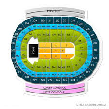 Little Caesars Arena Seating Chart Wwe Little Caesars Arena Tickets