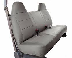 ford f 250 350 grey iggee s leather custom fit bench front seat cover 1 of 4free see more