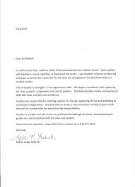 nursing recommendation letter letter format  nursing recommendation