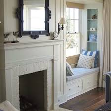 giannetti home beautiful painted brick fireplace and wood mantel to match the walls