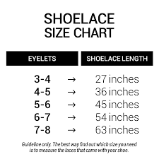 Oval Size Chart Flat Round Oval Laces Size Chart Miscly