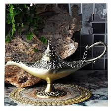 new collectable rare legend aladdin magic genie light lamp pot classic gold