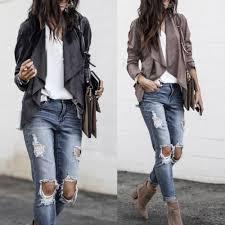 women long sleeve leather open front short cardigan suit jacket work office coat casaco feminino jaqueta feminina drop brown leather jacket