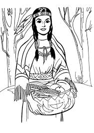 Native American Girl Coloring Pages Coloringstar