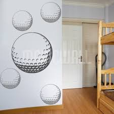 golf balls sports decals stickers on golf wall art canada with sports wall decals wall stickers canada