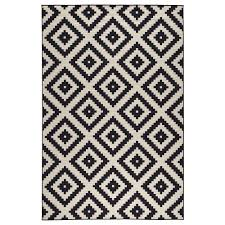 black and white rug ikea. ikea lappljung ruta rug, low pile black and white rug ikea
