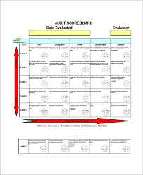 Scorecard Templates Excel Scorecard Template 6 Free Excel Documents Download Free