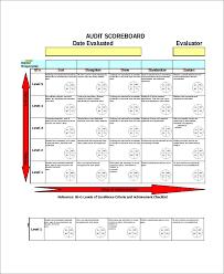 Scorecard Template Excel Scorecard Template 6 Free Excel Documents Download