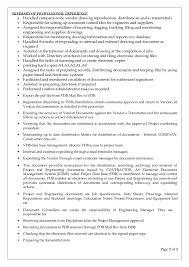 Job Profile Of Document Controller Document Controller Resume