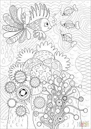 Tranh tô màu người lớn] – 16 bức tranh tô màu nhiều hoạ tiết về các loài  cá, động vật biển cho người lớn, bé trai, bé gái – Tinh Tinh