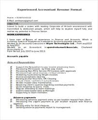 resume format for experienced accountant 38 accountant resumes in doc free premium templates