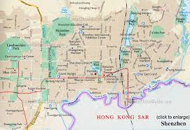 china shenzhen maps city layout location attractions