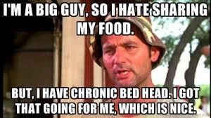 I'm a big guy, so I hate sharing my food. But, I have chronic bed ... via Relatably.com