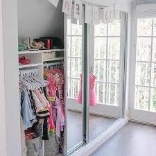 well organized kid closet with mirrored doors kids closet door i10 kids