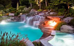 15 Pool Waterfalls Ideas For Your Outdoor Space Home Design Lover Inground Pool  Waterfalls