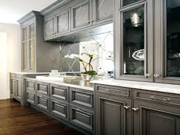Kitchen Marble Floor Grey Kitchen Cabinets With White Countertops Glossy Tile Floor