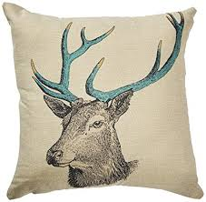 Deer Head Pillow Cover