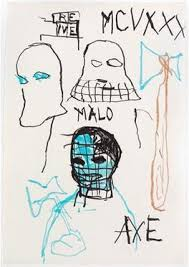 exle of a typical drawing by american artist and notable draftsman jean michel basquiat unled axe rene 1982 basquiat produced over 1500 drawings