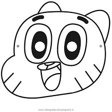 Disegno Gumball Personaggio Cartone Animato Da Colorare Con Disegni