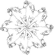 Mandala Paarden Kleurplaat Jouwkleurplaten