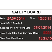 Safety Chart Data Display Board Compucare India Pvt Ltd