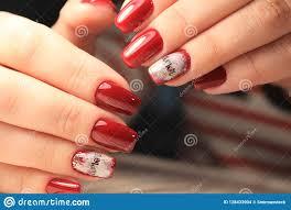 Nail Design Spa Vancouver Wa Closeup Of Woman Hands With Nail Design Stock Photo Image