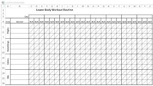 Gym Workout Sheet New Free Workout Log Template Download Exercise Sheet Spreadsheet