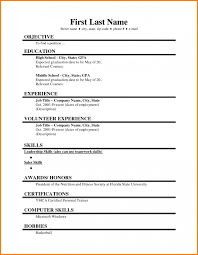 Samples Of Resumes For Highschool Students Example Of Resume For High School Student Examples Resumes
