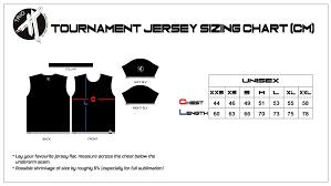 Jersey Size Chart Sizing Chart Trio Ultimate