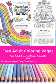 Find thousands of free and printable coloring pages and books on coloringpages.org! Free Adult Coloring Pages Creative Designs Dear Creatives