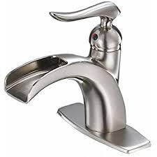 BWE Waterfall Brushed Nickel Single Handle hole Bathroom Sink