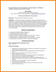 13 Restaurant Host Resume Mla Cover Page