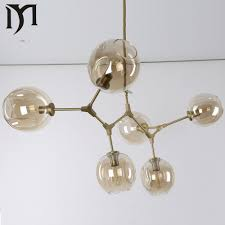 lindsey adelman  globe branching bubble glass modern pendent